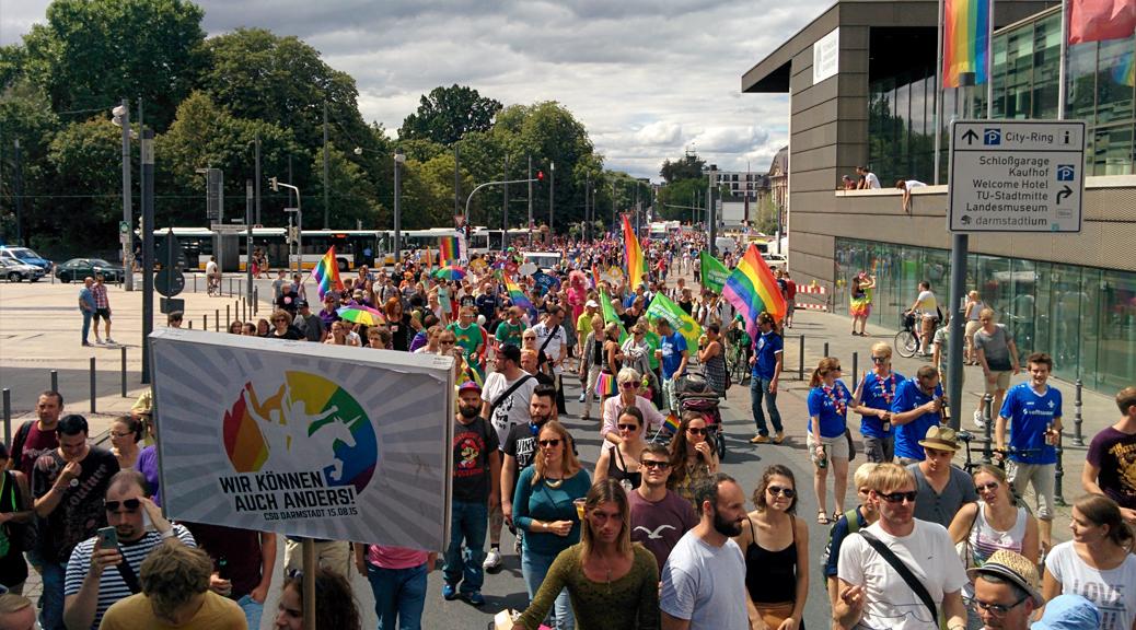 CSD Darmstadt Demo-Parade