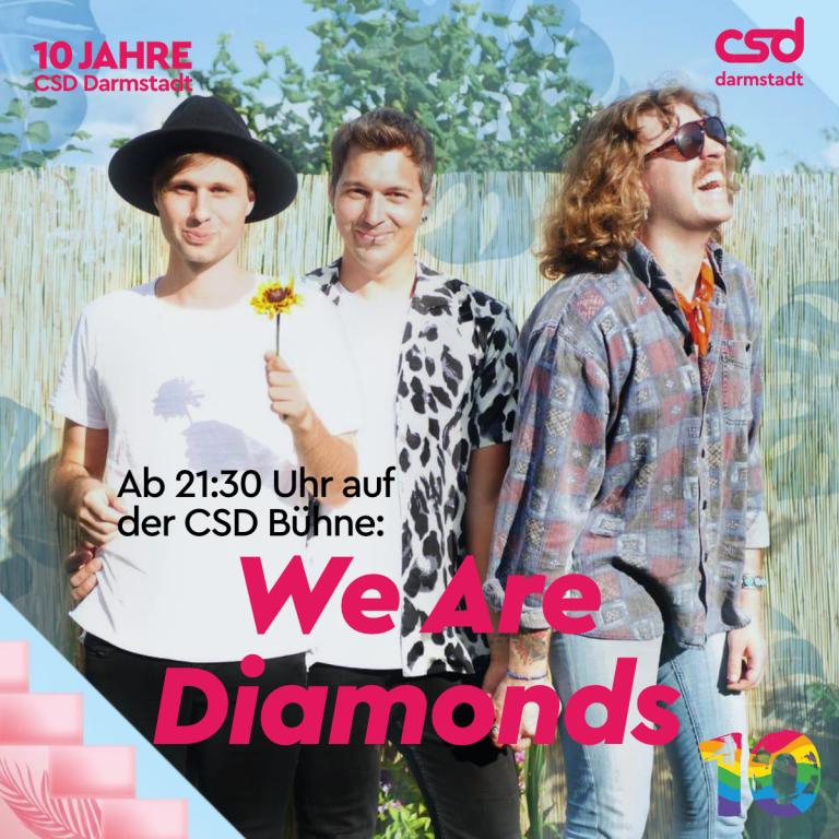 Auf der Bühne: We Are Diamonds - Christopher Street Day ...